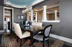 Dining Room Designs   Jane Lockhart Interior Design Love the dark walls.