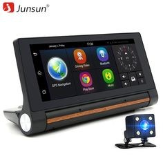 "Junsun E27 Car DVR GPS Camera 6.86"" Android 3G dash cam Video Auto recorder registrator with two cameras FHD 1080p black box //Price: $124.01 & FREE Shipping //     #dashcam"