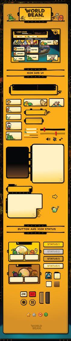 UI design for mobile game.