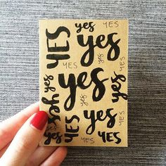 Say yes by @jrykerscreative #designspiration #lettering by designspiration