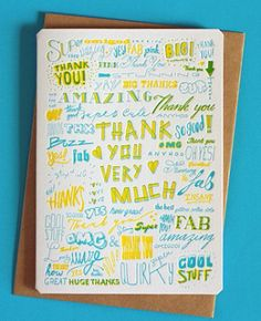 Oh So Beautiful Paper: Stationery A – Z: Thank You Cards