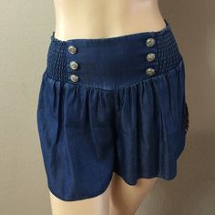 Cute Captain Denim Shorts  Really light fit denim short! You will love how they feel :) Wyld E Hart Shorts