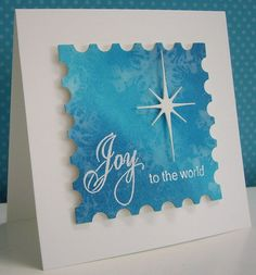 Stamping with Loll: Blue and White Christmas Cards