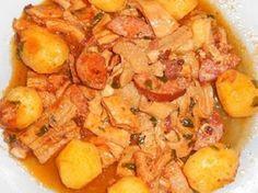 Receita de Dobradinha com Batatas na Panela de Pressão | Receita de uma panela só, Vegetais e Panelas