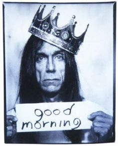 """Iggy Pop """"Good Morning"""" believed to be taken in a photo booth. Iggy Pop, Rock And Roll, Pop Rock, Trip Hop, Music Icon, My Music, The Stooges, We Will Rock You, Rock Music"""