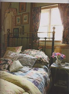 English Country Bedroom Delectable Pretty Green English Cottage Bedroom Love That The Dresser Is Inspiration