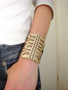 laser cut leather cuff Nice and Pretty +dreadstop @DreadStop