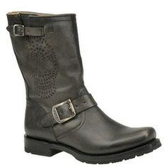 Frye Women's Heath Skull Engineer Boot | shoemall | free shipping! Pepsi's Pick from #ShoeMall