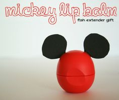 Mickey Mouse Lip Balm. Plus 15 Mickey and Minnie Mouse Craft Projects - So many fun ideas here. Great for trips to Disney or at-home parties.