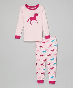 Another great find on #zulily! Pink Horses Pajama Set - Infant, Toddler & Girls #zulilyfinds