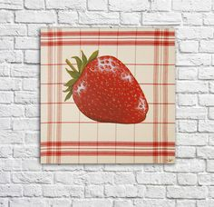 Strawberry Fields Forever, Shabby, Illustration, Decoration, Berries, Creations, Etsy, Collections, Small Canvas Paintings