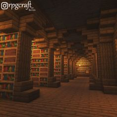 """Minecraft Inspiration (@minecraaft.ideas) posted on Instagram: """"Wonderful Library, always ready for the next chapter 📚 Follow @minecraaft.ideas for more daily Minecraft Inspiration ! 🧱 Credits 🎥…"""" • Dec 12, 2020 at 6:15pm UTC Casa Medieval Minecraft, Minecraft House Plans, Minecraft Mansion, Minecraft Cottage, Cute Minecraft Houses, Minecraft City, Minecraft Room, Minecraft House Designs, Minecraft Construction"""