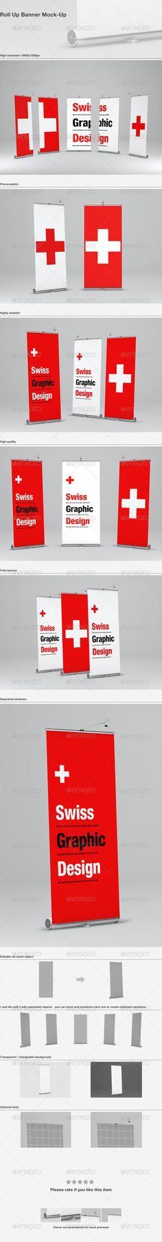 Buy Roll Up Banner Mock-Up by Zeisla on GraphicRiver. Roll Up Banner Mock-Up Features 1 Psd File 5 Different angles degrees degrees, 0 degrees) Bann. Letterhead Template, Indesign Templates, Cool Business Cards, Business Card Logo, Exhibition Banners, Standing Banner Design, Roll Up Design, Pop Up Banner, Mockup Photoshop
