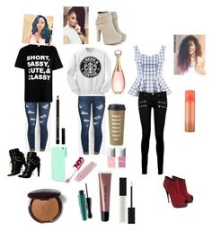 """tree quite outfits"" by beauitfulasiam on Polyvore featuring Paige Denim, Kate Spade, Givenchy, Insten, Giuseppe Zanotti, MAC Cosmetics, Bobbi Brown Cosmetics, Gucci, Christian Dior and Lime Crime"