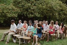 Mixed vintage wooden chairs ceremony seating perfection from Vintage Ambiance | Ben Blood Photography