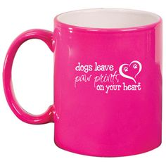 11oz Ceramic Coffee Tea Mug Glass Cup Dogs Leave Paw Prints on Your... (19 CAD) ❤ liked on Polyvore featuring home, kitchen & dining, drinkware, black, drink & barware, home & living, mugs, blue coffee mugs, blue tea cups and coffee mugs