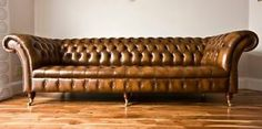 MODERN HANDMADE ANTIQUE GOLD LEATHER 4 SEATER CHESTERFIELD SOFA, COUCH, SUITE | eBay