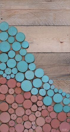 Reclaimed Wood Slice Abstract Painting | Lisa Bick