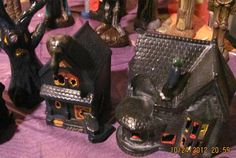 $38 Haunted houses: Check out these ceramics and more at http://adasstudent.weebly.com/seasonal.html.)