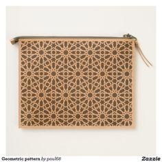 Geometric pattern travel pouch