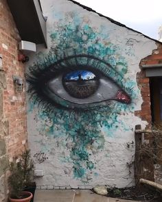located at The Cartford Inn in Little Eccleston, Lancashire by street artist MydogsighsIncredibly realistic street art by My Dog Sighs in Eccleston, England(Source)Since you might expect a significant lot of the art creates a political statement. 3d Street Art, Amazing Street Art, Street Art Graffiti, Street Artists, Graffiti Wall Art, Urban Street Art, Graffiti Painting, Murals Street Art, 3d Wall Art
