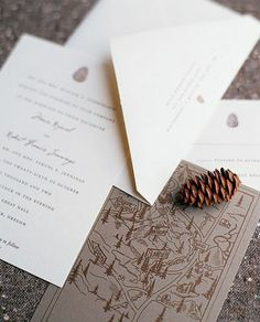 "See the ""Woodsy Charm Invitation"" in our Rustic Wedding Invitations gallery Winter Wedding Invitations, Wedding Invitation Design, Wedding Stationary, Invitation Ideas, Elegant Invitations, Fall Wedding, Rustic Wedding, Wedding Ideas, Wedding Fun"