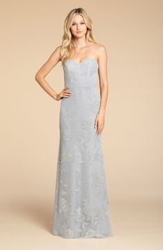 72127a4a5b7e Style 5907 Hayley Paige Occasions bridesmaids dress - Pewter caviar  sweetheart strapless A-line gown