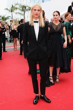 Aymeline Valade en smokin Pallas at Cannes 2014
