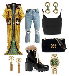 """""""Not Your Average Joe"""" by elainegregory on Polyvore featuring Gucci, AMIRI, Topshop, Rolex and StreetStyle"""