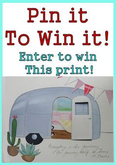 Enter to win your choice of 4 different vintage trailer/camper prints by Artist April Heather Art! http://littlevintagetrailer.com/2013/01/give-a-way-win-a-vintage-trailer-print/