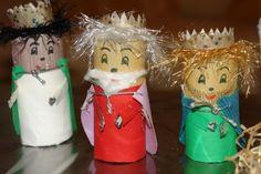 Figuras del Belén: fotos de ideas hechas con rollos de papel higiénico