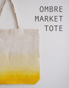 DIY Ombre Market Tote // FOXTAIL + MOSS