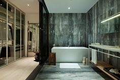 by Neri and Hu Luxury Interior, Interior And Exterior, Interior Design, Neri And Hu, Hotel Interiors, Modern Interiors, Lounge, Bathroom Toilets, Home Spa