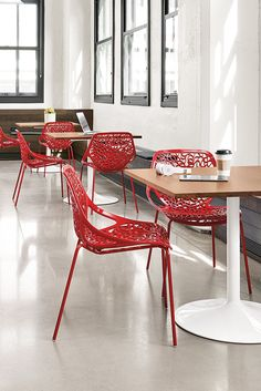 Create an inspiring and efficient place to work with our modern office furniture. We have quality products you'll love, the options you need and an experienced team to make your vision a reality. Commercial Design, Commercial Interiors, Modern Kitchen Design, Modern Design, Modern Cafe, Restaurant Design, Restaurant Ideas, Modern Furniture, Office Furniture