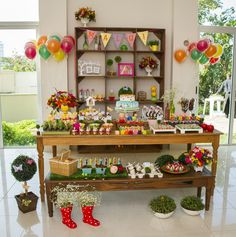 A bright and cheery garden inspired dessert table with lots of creative ideas.