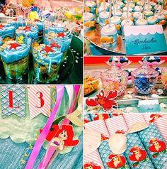 little mermaid themed party #birthday #ariel
