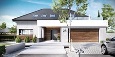 Find home projects from professionals for ideas & inspiration. Projekt domu HomeKONCEPT 28 by HomeKONCEPT Bungalow House Design, Modern Bungalow, Modern House Design, Architecture Plan, Residential Architecture, Modern Family House, Facade House, Exterior Design, Future House
