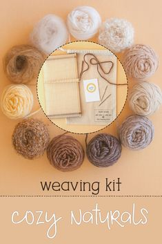 This is the perfect gift for someone who wants to learn to weave, because who doesn't love natural colors? The loom comes ready to weave, and you can find free weaving instructions on my blog. #weaving #learntoweave #weavingkit Loom Weaving, Tapestry Weaving, Hand Weaving, Crochet Supplies, Fibre And Fabric, Hairpin Lace, Spinning Yarn, Weaving Projects, Weaving