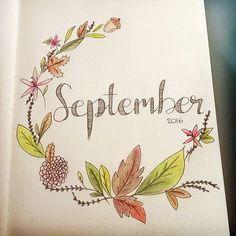 Exemple de présentation de page pour le mois de septembre.