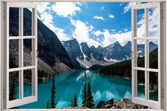 3D Mural Window View Forest Nature Sun Pine Mountain Sticker Wall Vinyl GA1-521 in Home, Furniture & DIY, Home Decor, Wall Decals & Stickers | eBay
