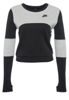 Nike Sportswear TECH - Sweatshirts - dark gey heather/black - Zalando.dk