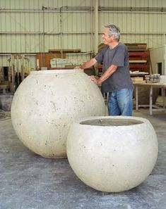 Buddy Rhodes concrete planters