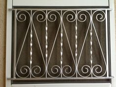 Screen Door Grille Vintage Inspired Ornate Scroll Design Hearts Style Decorative Protective Aluminum Custom Size Available