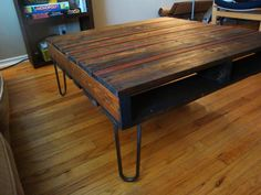 Reclaimed Pallet and Piano Coffee