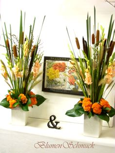 Interesting composition for a fall arrangement,