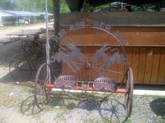 Round Top Antique! His/Her Ass Bench!