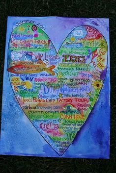 Could create this for many purposes; the creator did it as a way to document plans. I was thinking of using it for beginning year, getting to know you, establishing class agreements. I love the use of color, symbols, words- what a beautiful artifact for a classroom.