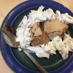 And apple pie for dessert! #applepie #pie #apples #nofilter #whippedcream #dessert #delish #yummy #sweet #letseat #goodevening #sounhealthy