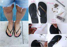 Nieten Flip Flops - plus weitere Ideen