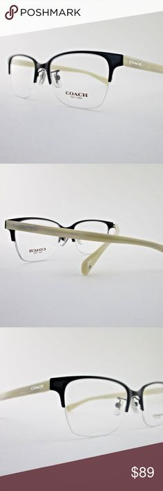 "Coach Rx Eyeglasses ""Evie"" Satin Black Ivory Horn Brand new. Never used, never worn Authentic Coach Eyewear. Coach trademark written on the temples Comes with Coach Case and Coach cloth  Coach HC5047 Evie 9160 Optical Frame Black & Ivory Horn Eyeglasses         Frame Size 50 x 17 x 135 Coach Accessories Glasses"